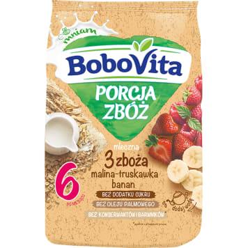 Kaszka mleczna - Bobovita. Mieszanka zbóż i gruszki to posiłek dla dzieci po 8 miesiącu życia.