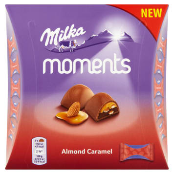 MILKA Moments Czekoladki mleczne Almond Caramel 11 szt. 96g