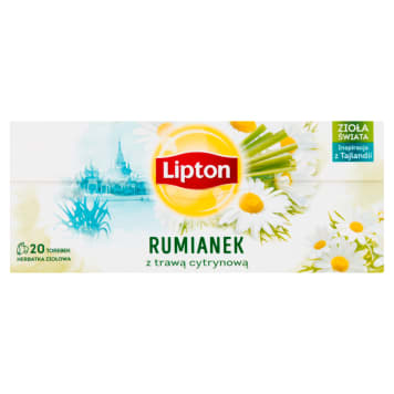 LIPTON Herbata ziołowa Trawa cytrynowa&Rumianek 20 torebek 20g