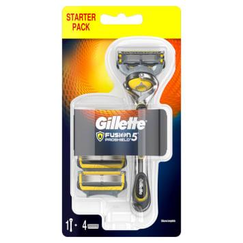 GILLETTE Fusion ProShield Maszynka do golenia dla mężczyzn + 4 szt. ostrzy wymiennych 1szt