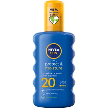 NIVEA SUN Nawilżający balsam do opalania w sprayu SPF 20 200ml