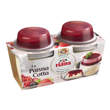 RIANS Panna Cotta czerwone owoce 2x120g 240g