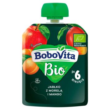 BOBOVITA BIO Mus jabłko z morelą i mango po 6 miesiącu 80g