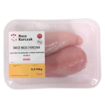 NASZ KURCZAK Filet z piersi z kurczaka (400g-600g) 500g