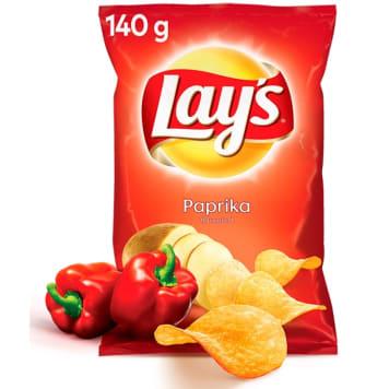 Chipsy paprykowe- Lays. Pikantne chipsy z najlepszych ziemniaków.