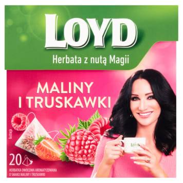 LOYD TEA Herbata owocowa o smaku maliny i truskawki 20 torebek 40g