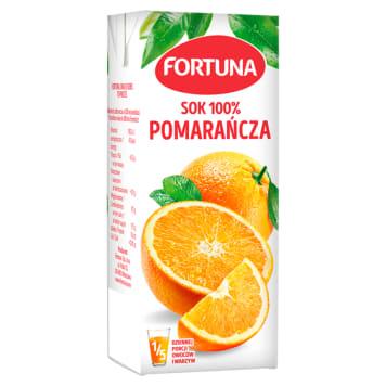 100% Sok pomarańczowy - Fortuna to prawdziwie owocowy smak napoju dla małych dziewczynek.