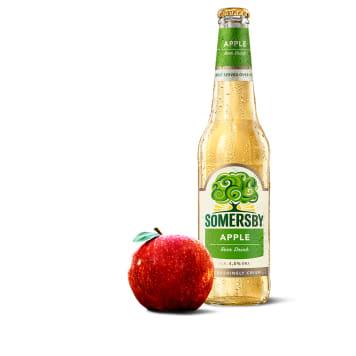 Napój piwny o smaku jabłkowym - Somersby. Doskonale towarzyszy grilowaniu i nie tylko.