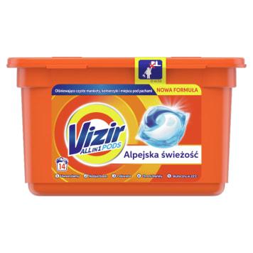 Kapsułki do prania 17 szt - Vizir Alpine Fresh. Usuwają plamy i chronią kolory tkanin.
