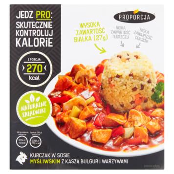 PROPORCJA Kurczak w sosie myśliwskim z kaszą bulgur i warzywami 300g