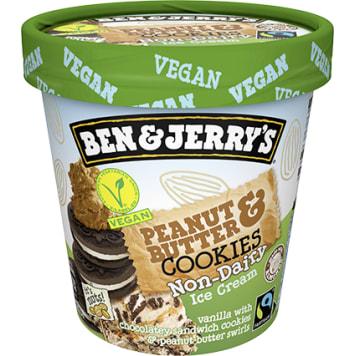BEN&JERRY'S NonDairy Beznabiałowe, wegańskie lody z masłem orzechowym i ciasteczkami 419ml