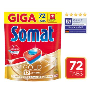 SOMAT Gold Tabletki do mycia naczyń w zmywarkach 72 szt. 1.382kg