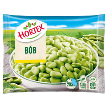 Bób zielony mrożony Hortex to doskonałe, zawsze świeże źródło witamin i mikroelementów.