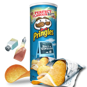 PRINGLES Chipsy Salt & Vinegar 165g