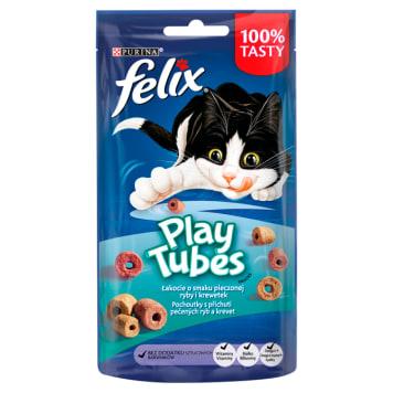 FELIX® Play Tubes Przekąska dla kota Ryby&Krewetki 50g