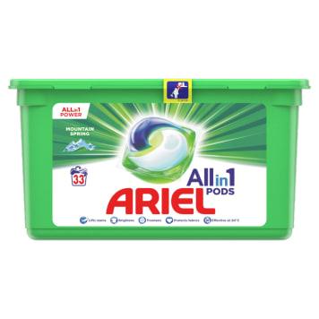 ARIEL MOUNTAIN SPRING Kapsułki do prania białych i jasnych tkanin 33 szt. 1szt