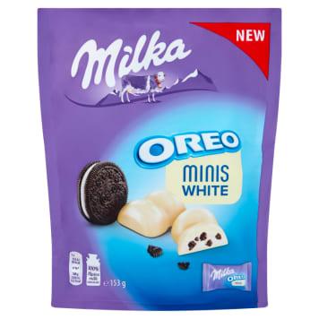 MILKA Minis White Cekoladki z nadzieniem o smaku ciasteczek oreo 153g