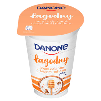DANONE Naturalny Jogurt z ziarnami orzechami i miodem 175g