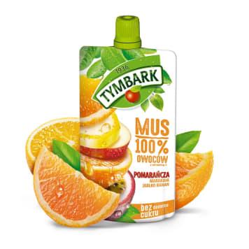 TYMBARK Mus 100% orange passion fruit apple banana 120g