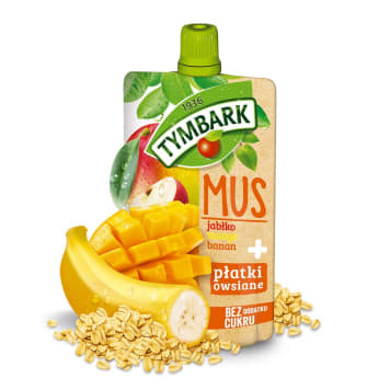 TYMBARK Mus jabłko mango banan + płatki owsiane 100g