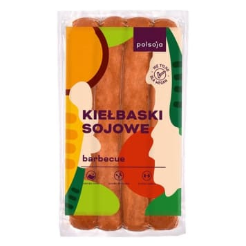 POLSOJA Kiełbaski sojowe barbecue 250g