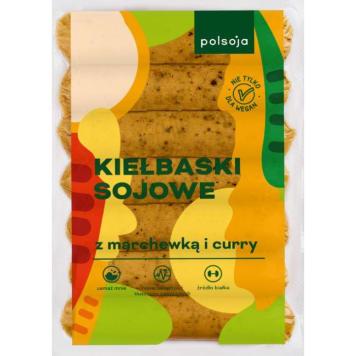 POLSOJA Kiełbaski sojowe z marchewką i curry 250g