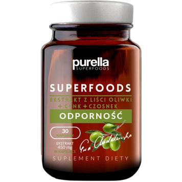 PURELLA SUPERFOODS Suplement diety ekstrakt z liści oliwek ODPORNOŚĆ 30 kapsułek 1szt