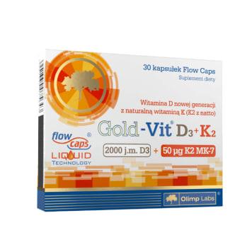 OLIMP Gold-Vit D3 + K2 2000 j.m. 30 kaps blistry 1szt