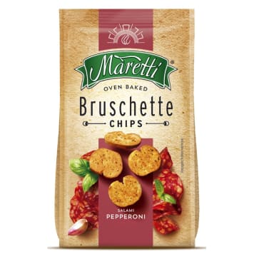 Bruschetta z salami pepperoni - Maretti. Klasyczna włoska przekąska w najlepszym wydaniu.