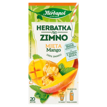 HERBAPOL Herbatka na zimno Mięta i Mango 20 torebek 36g