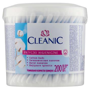 Patyczki kosmetyczne - Cleanic. Przeznaczone do codziennej pielęgnacji uszu.