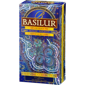BASILUR Magic Nights Herbata czarna 25 torebek 50 g