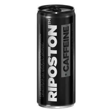 RIPOSTON +CAFFEINE Gazowany napój energetyzujący, czarna porzeczka i pomarańcza 250ml