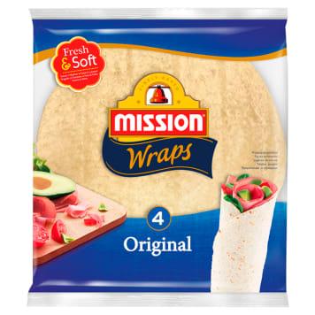 MISSION Wraps Tortilla pszenna 4szt Original 245g