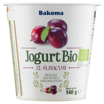 BAKOMA Jogurt Bio śliwka 140ml