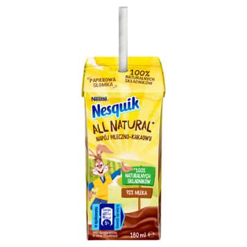 NESQUIK All natural Napój mleczno- kakaowy 180ml
