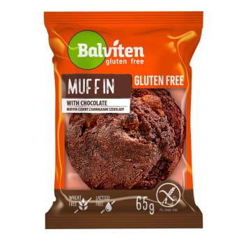 BALVITEN Bezglutenowa mufinka ciemna z kawałkami czekolady 65g