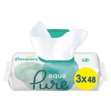 PAMPERS Aqua Pure Chusteczki nawilżane dla niemowląt 3 x 48 szt. 1szt