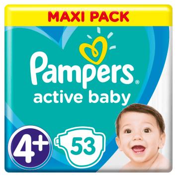 PAMPERS Active Baby Pieluchy Rozmiar 4+ (10-15kg) 53 szt 1szt