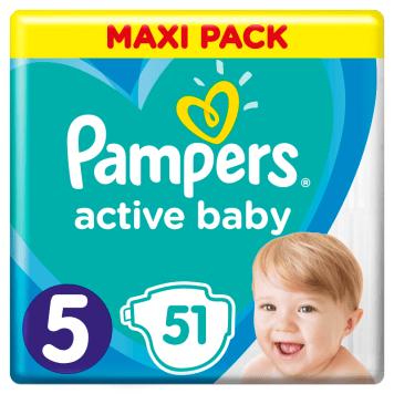 PAMPERS Active Baby Pieluchy Rozmiar 5 (11-16kg) 51 szt 1szt
