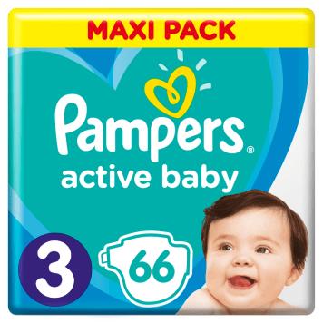 PAMPERS Active Baby Pieluchy Rozmiar 3 (6-10kg) 66 szt 1szt