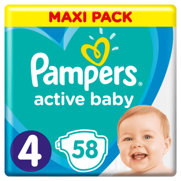 Pieluchy Active Baby – Pampers. Nawet do 12 godzin udowodnionej suchości