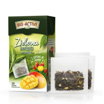 BIG-ACTIVE Herbata zielona z opuncją i mango 20 torebek 34g