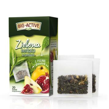 BIG-ACTIVE Herbata zielona z pigwą i granatem 20 torebek 34g