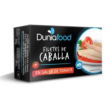 DUNIAFOOD Makrela w sosie pomidorowym 88g
