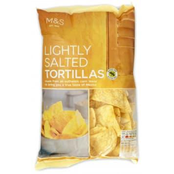 MARKS & SPENCER Lekko solone chipsy kukurydziane tortilla 175g