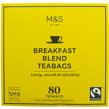 MARKS & SPENCER Herbata czarna, śniadaniowa, 80 torebek 250g