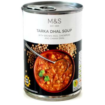 MARKS & SPENCER Tarka dhal - indyjska zupa warzywna na bazie brązowego ryżu i soczewicy 400ml