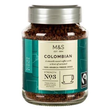 MARKS & SPENCER Kolumbijska liofilizowana kawa rozpuszczalna (100% Arabica) 100g