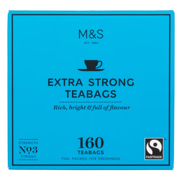 MARKS & SPENCER Bardzo mocna, czarna herbata, 160 torebek 500g